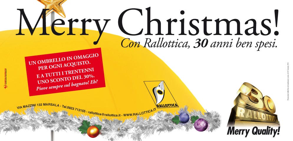 "Campagna ""Merry Christmas! - 30 ANNI"""