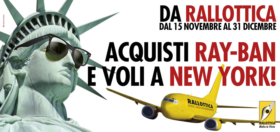 "Campagna ""Acquisti Ray-Ban e voli a New York!"""